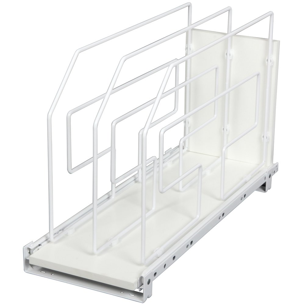 Roll Out Tray Divider Cabinet Organizer White Knape /& Vogt TDRO6-W 6 in