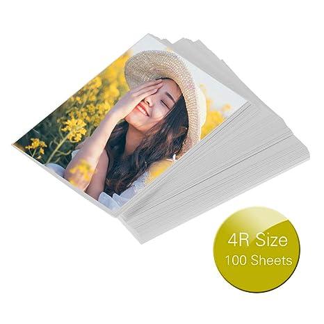 Amazon.com: Aibecy Professional 4R - Papel fotográfico (100 ...