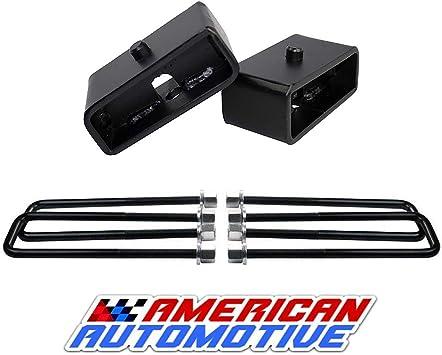12.5 U Bolt American Automotive Silverado Sierra 1500 2WD 4WD Lift Kit 3 Rear Lift Cast Iron Blocks