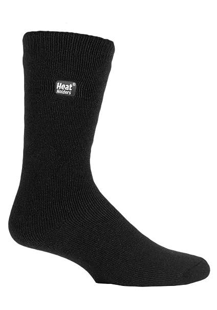 HEAT HOLDERS - Hombre invierno calientes termicos vestir calcetines (39-45 Eur, Black