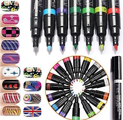 Buy Generic Brown 16 Colors 3d Nail Art Pen Diy Paint Decoration