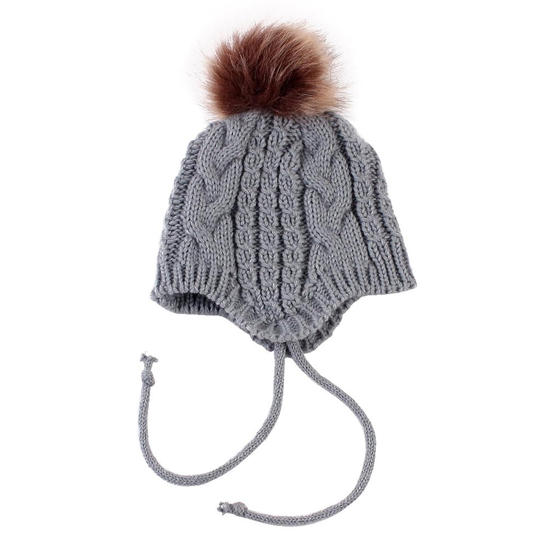 778de7cfc74 Baby Girl Knitted Beanie Pom Pom Bobble Winter Warm Hat Christmas Gift