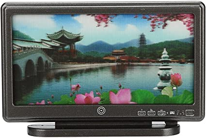 Mini 1:12 Dollhouse Miniature Widescreen Flat Panel LCD TV with Remote Home Deco