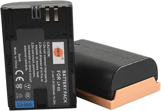 DSTE® 2x LP-E6 Li-ion Batería para Canon EOS 5D Mark II, EOS 5D Mark III, EOS 5DS, EOS 6D, EOS 7D, EOS 60D, EOS 60Da, EOS 70D: Amazon.es: Electrónica
