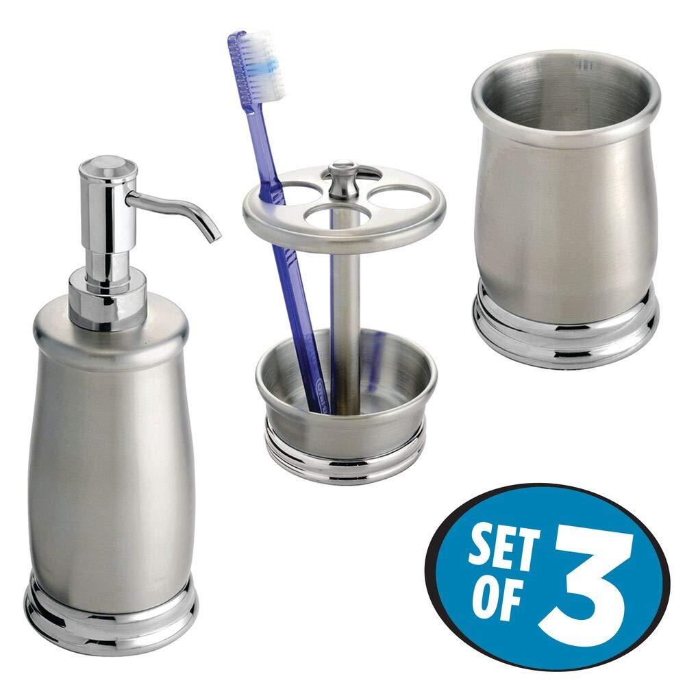 Amazon.com: mDesign accesorios de baño set Inoxidable: Home ...