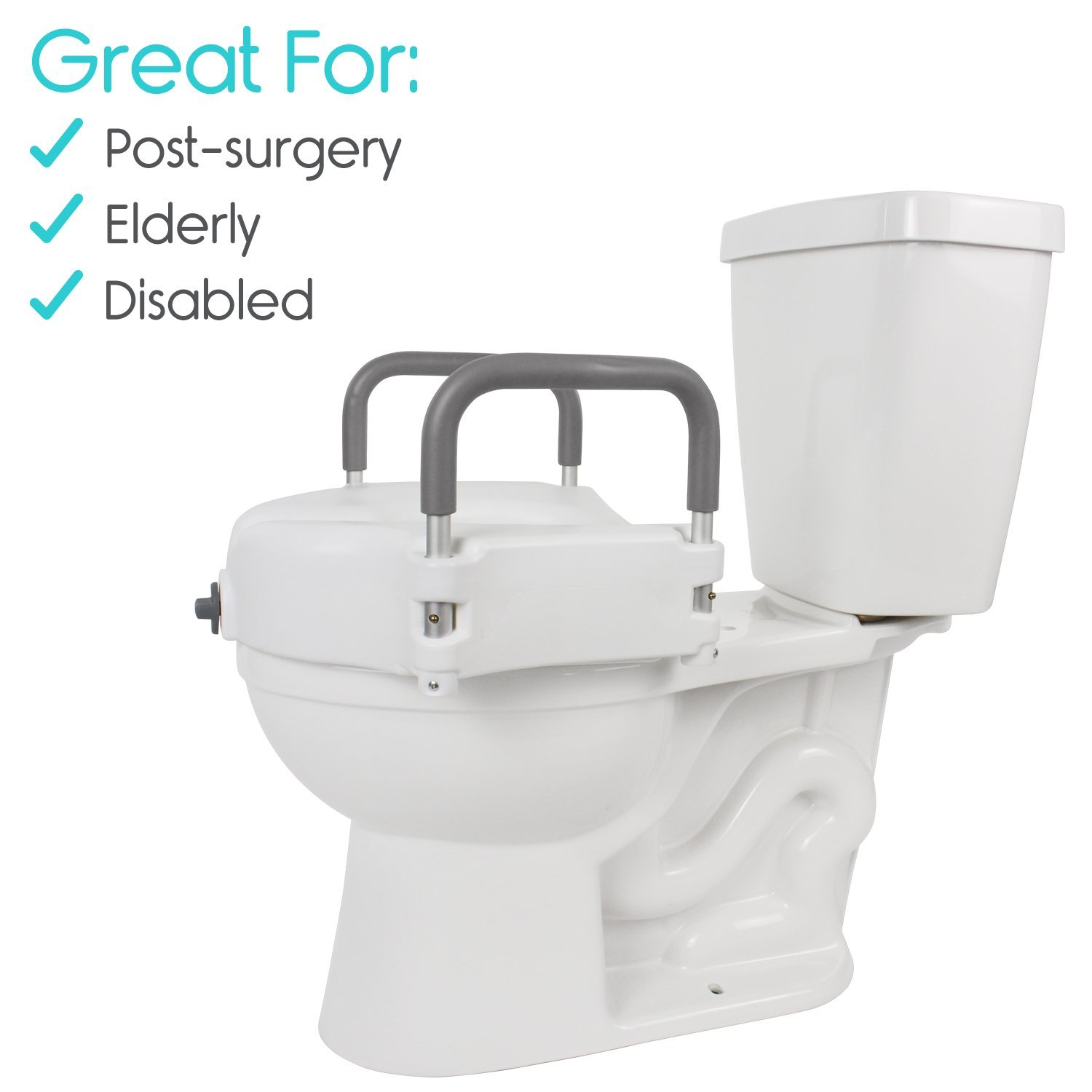 Vive Raised Toilet Seat 5 Quot Portable Elevated Riser With