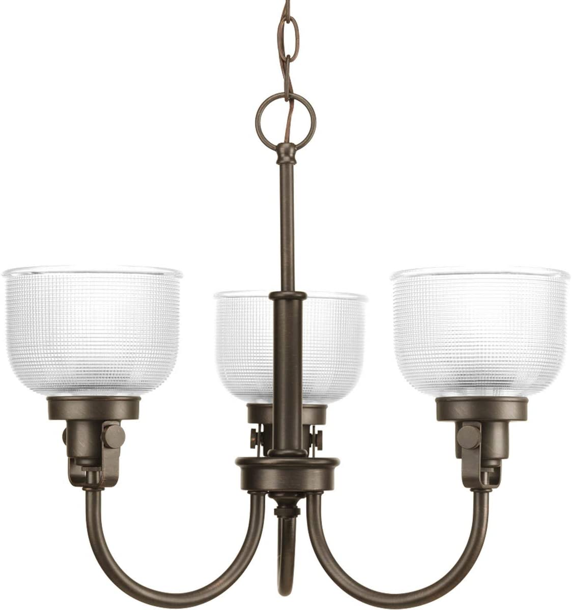 Progress Lighting P4688-74 Transitional Three Light Chandelier from Archie Collection Dark Finish, Venetian Bronze
