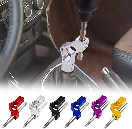 Auto-Aluminium-Schaltknauf-Extender einstellbarer Hochhebel-Schalthebel Universal Car Manual Modification Zubeh/ör-Blau