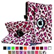 iPad mini Case - Fintie iPad mini 3 / iPad mini 2 / iPad mini Case, 360 Degree Rotating Multi-Angle Stand Smart Cover with Auto Wake/Sleep Feature, Leopard Pink