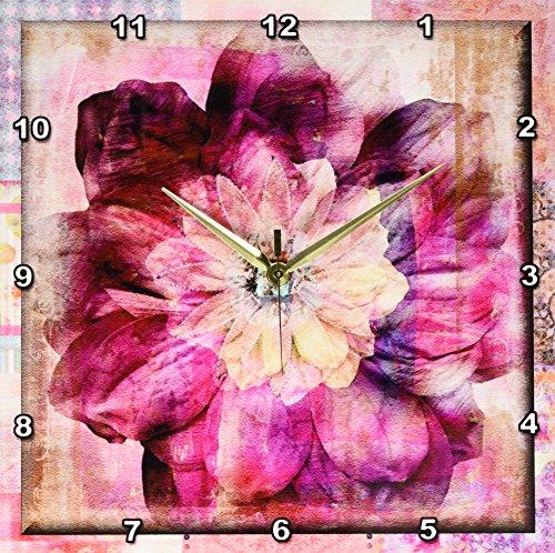 3dRose dpp_31497_2 Floral Gypsy Bohemian-Wall Clock, 13 by 13-Inch