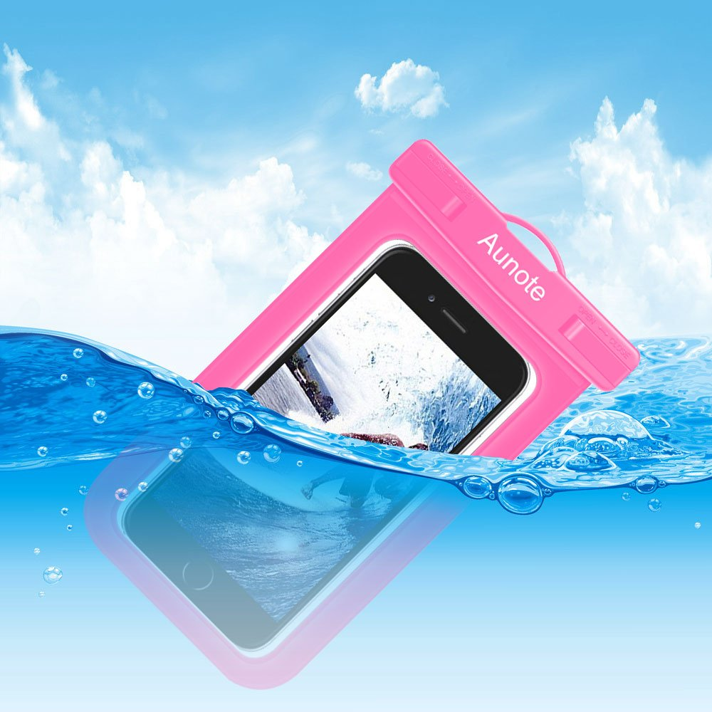 6396c48170d Aunote Bolsa Funda Sumergible Móvil Certificado IPX8 Universal Waterproof  Case dry bag pouch para iPhone ...