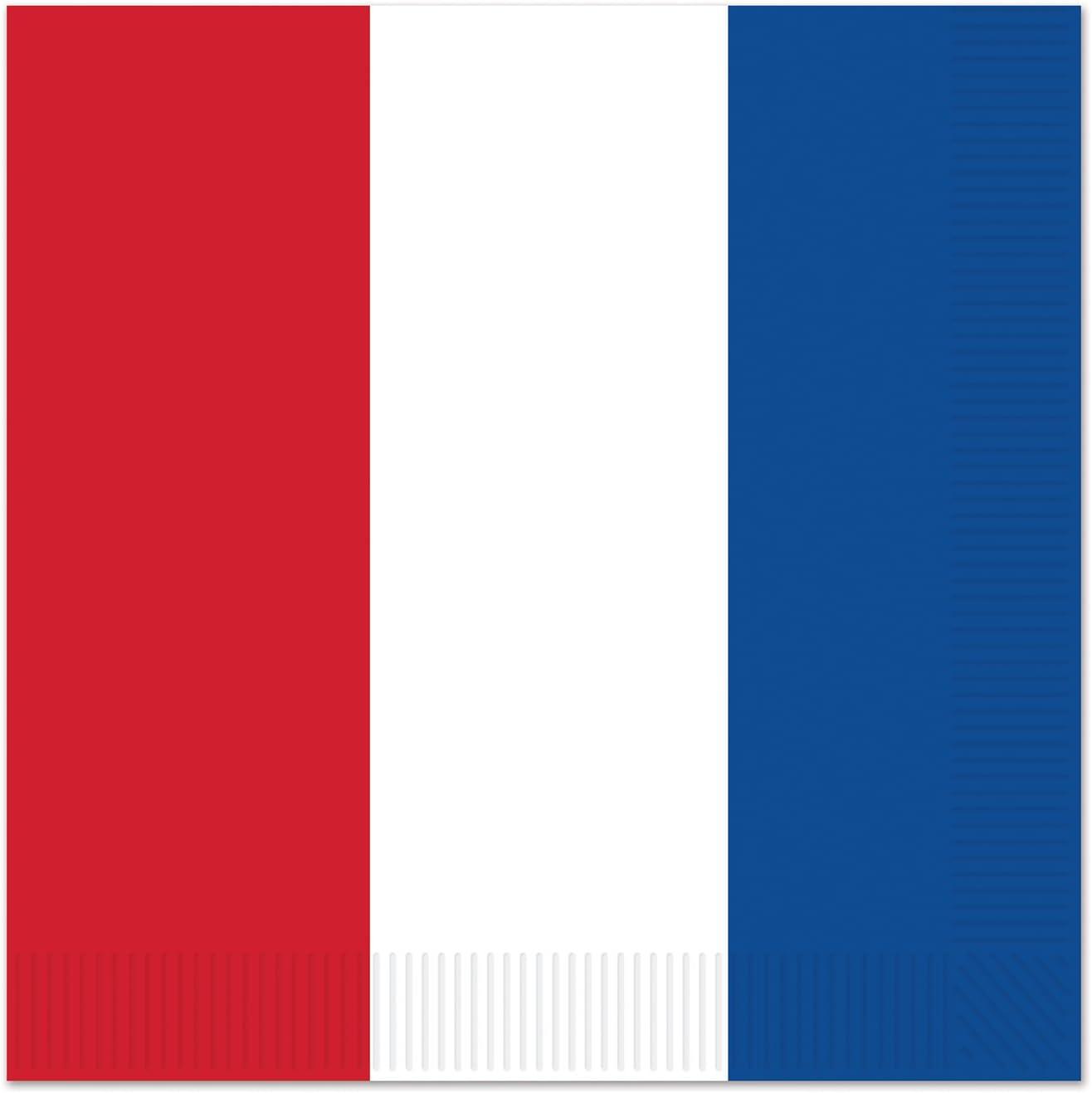 French France Tablecover Plates Napkins 33 Piece Bundle