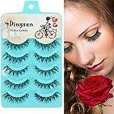False Eyelashes Fake Eyelashes 5 Pack Black False Eyelashes Smoky Makeup Beauty Tool