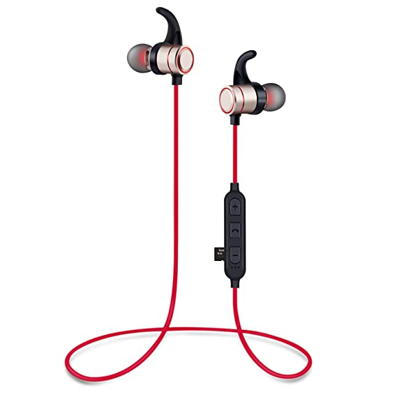 86c2216030f Wediamond Bluetooth Headphones Wireless Earbuds 4.2 Magnetic Bluetooth  Earphones Lightweight Earbuds with Mic for in-