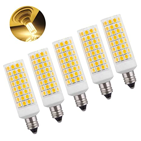 Kinglight 5 Pack E11 Led Bulb 75w 100w Equivalent Dimmable Mini Candelabra Base Replace E11 Halogen Bulb Jd T4 T3 Type Clear E11 Led Light Bulb 110v