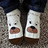 Kids Socks, Seamless Cotton Animal Zoo Non Skid