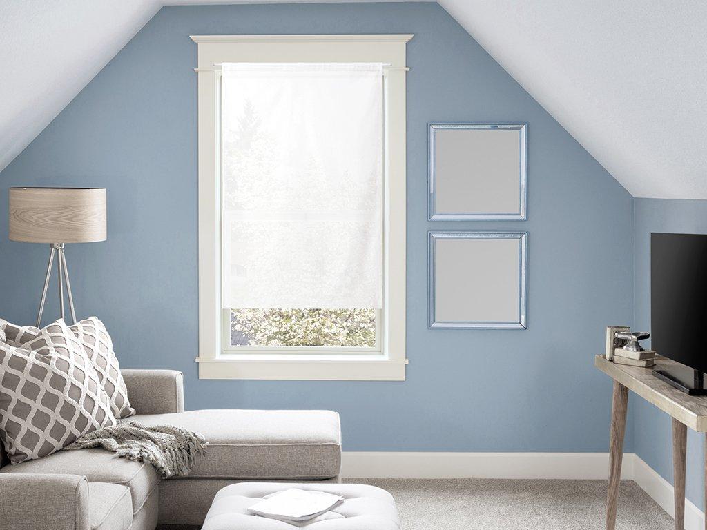 Soleil d'ocre Tendina a vetro in cotone 45x90 cm PANAMA bianco SELARTEX 042100