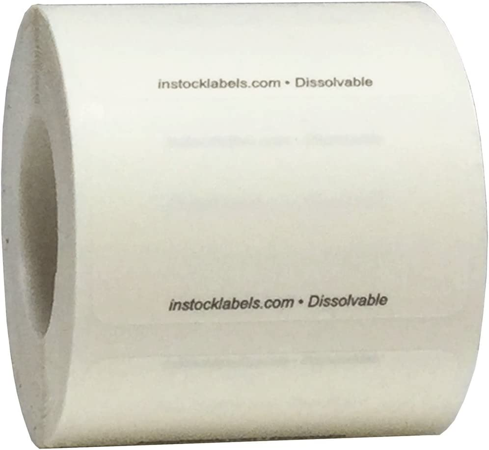 Dissolvable Blank Shelf Life Labels for Food Rotation Prep 1 x 2 Inch 500 Adhesive Stickers