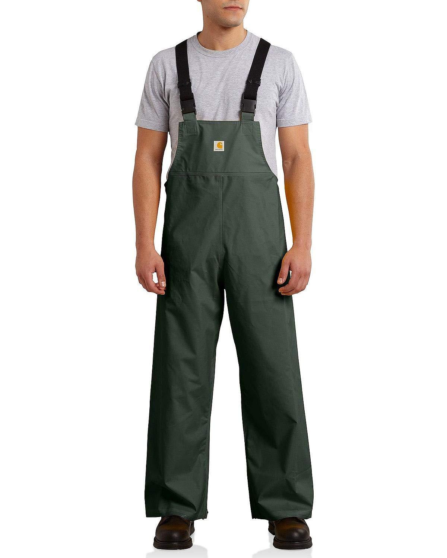 Carhartt Men's Mayne Lightweight PVC Bib Overalls,Green,Small by Carhartt