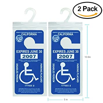 Amazon.com: Handicap Parking Placard Holder, Ultra Transparent ...
