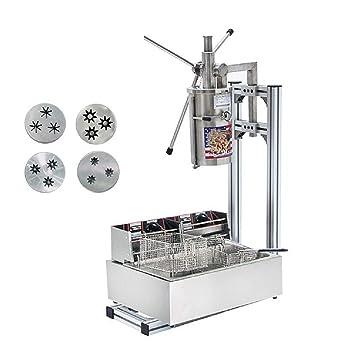 5L máquina de hacer Churro Español Comercial Profesional Churro Maker Herramienta Cocina Cocina Pastelería con Cortador