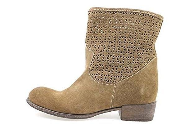Chaussures Femme Braccialini Bottines Gris Daim Ap637 KJ5dnY8