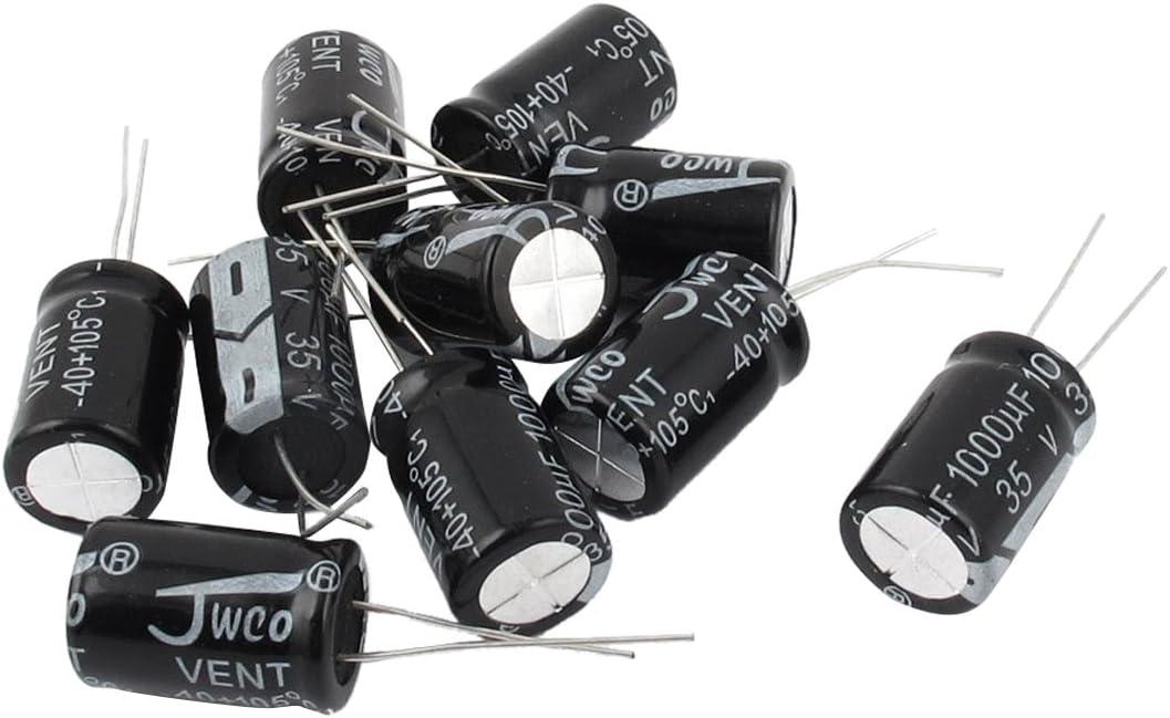 Sodial R 10 Stueck 35v 1000uf 105 Celsius Radiale Leiter Elektrolyt Kondensator 13mm X 20mm Baumarkt