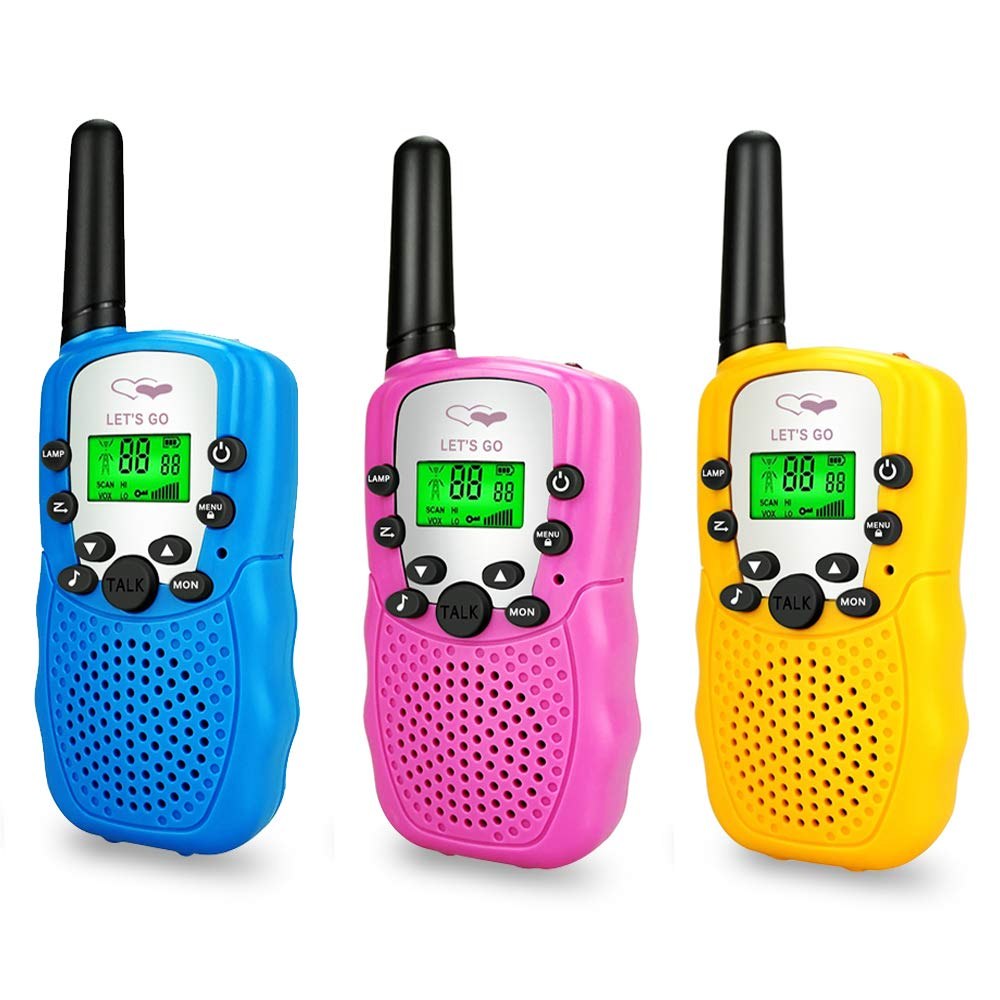 LET'S GO! Outdoor Toys for Kids 5-12, Family Walkie Talkie 3 Pack for Kids Outdoor Toys for Toddlers Boys Age 5-12 Popular Gifts for Girls Boys 5-12 DMWTK1 by LET'S GO! (Image #1)
