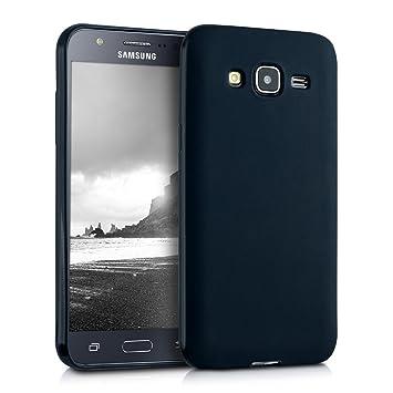 kwmobile Funda para Samsung Galaxy J5 (2015) - Carcasa para móvil en [TPU Silicona] - Protector [Trasero] en [Negro Mate]