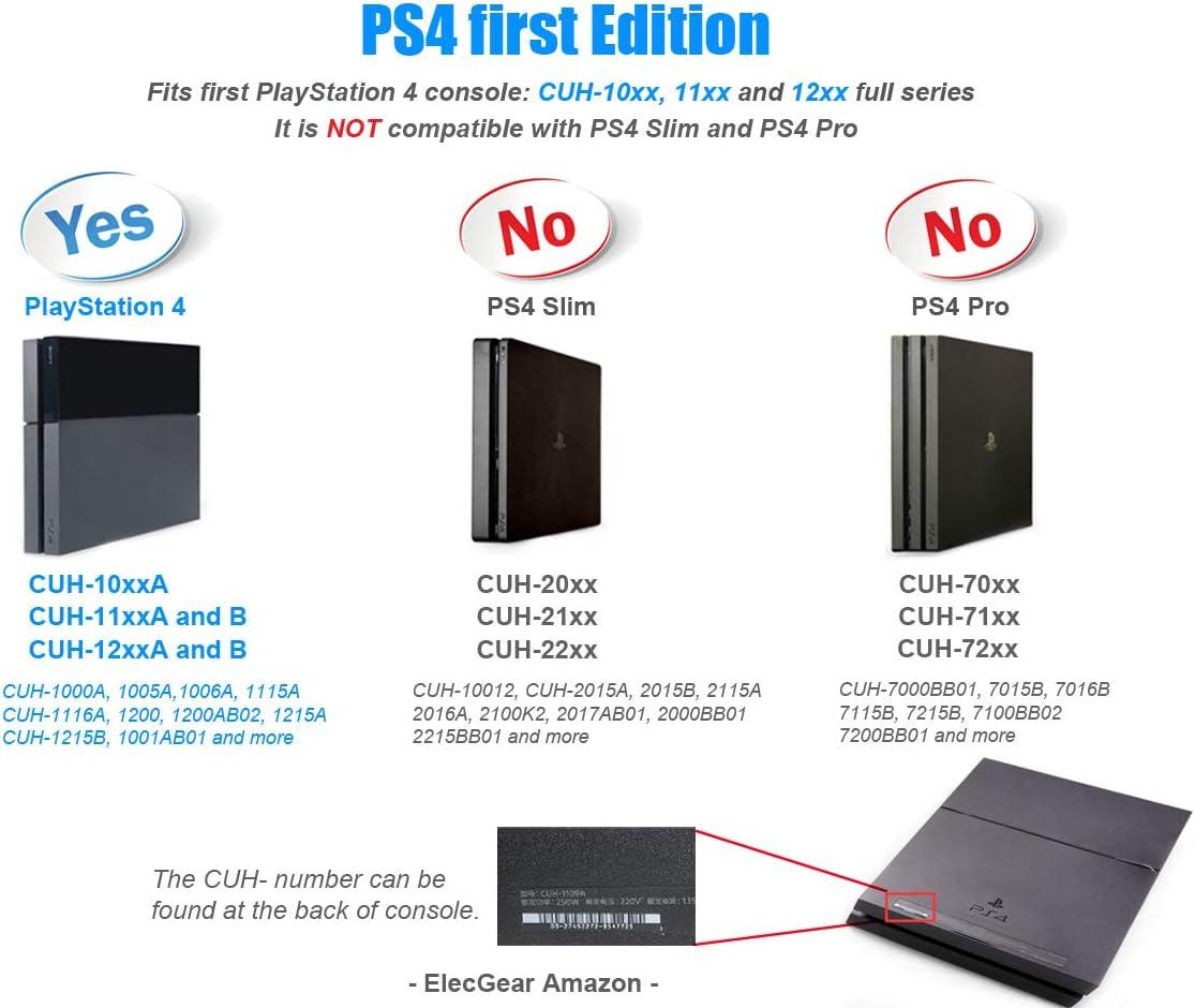 ElecGear Ventilador de Refrigeración para PS4 CUH-1xxx – Nidec Interno CPU Cooling Fan, Reemplazo de Enfriamiento, Pasta Térmica, Torx TR9 y PH1 Herramienta de reparación for Playstation 4: Amazon.es: Electrónica