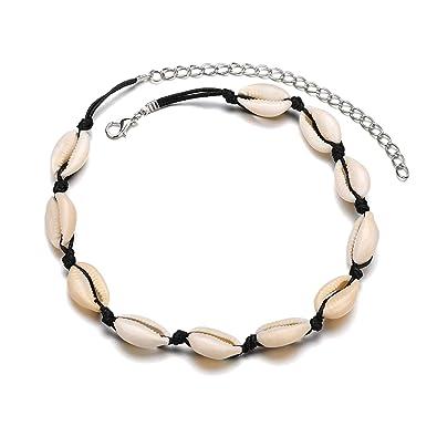 Amazon.com: ZLY - Gargantilla de concha de perlas naturales ...