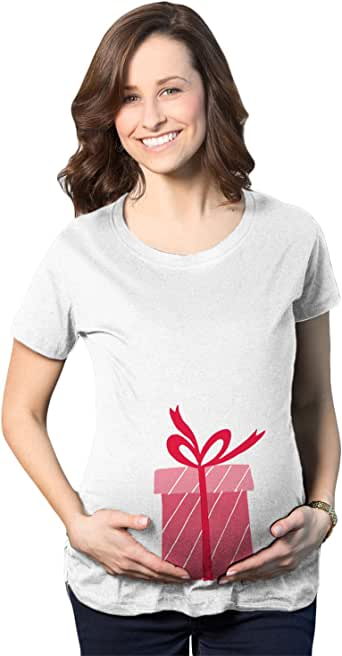 Maternity Box Holiday Pregnancy Announcement T Shirt