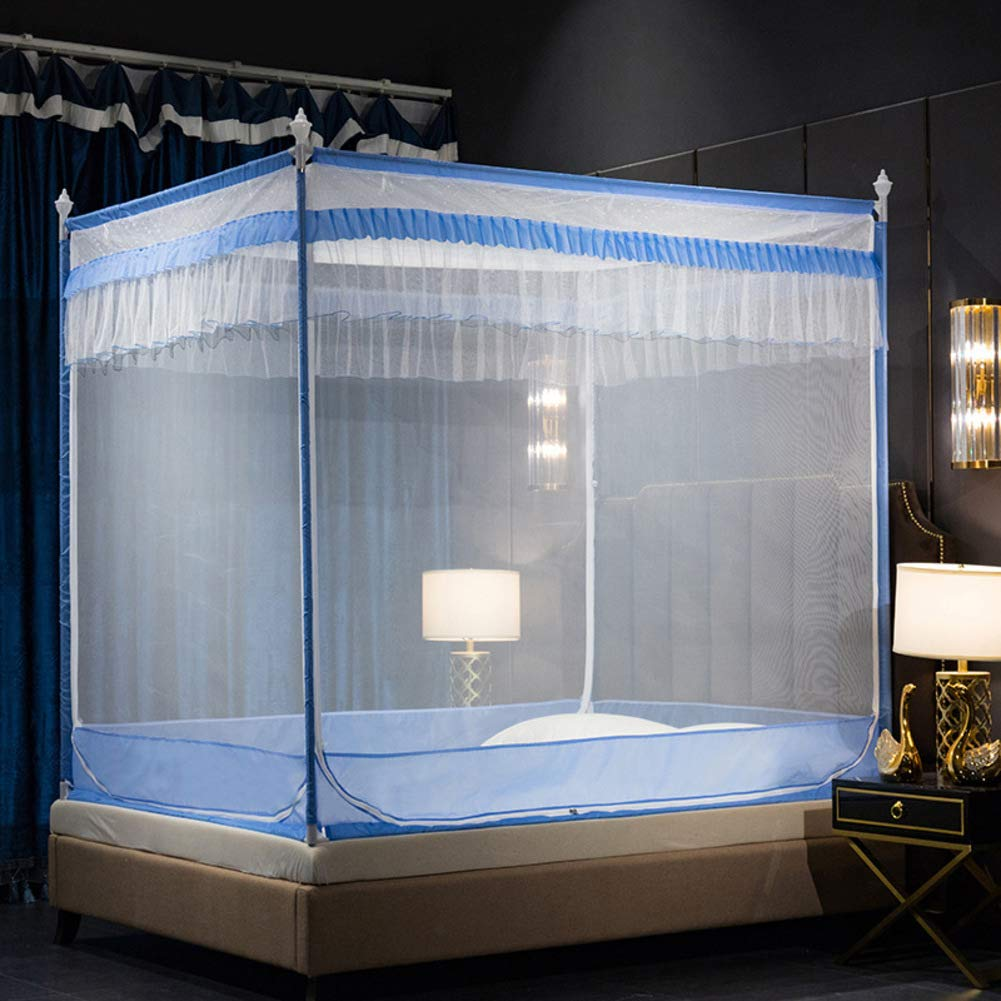 KE & LE Mosquito Bed Net, Mesh Canopy Curtains with Bottom Pop Up Folding Mosquito Net Sleep Mosquito Tent Kids Boys Girls Anti Mosquito Mosquito Net-b W:150cmxh:170cmxd:200cm