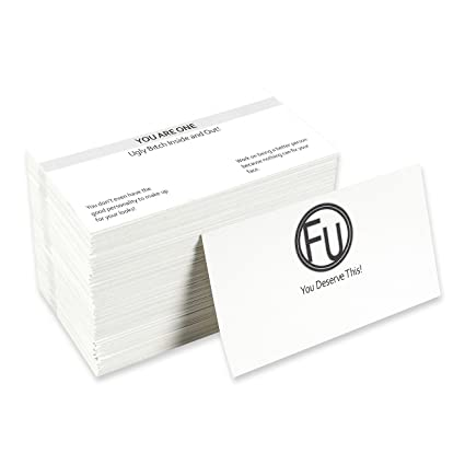 Amazon pack of 180 offensive business cards offensive cards pack of 180 offensive business cards offensive cards hilarious insults for all occasions colourmoves