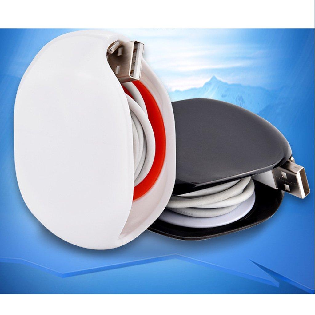 Homyl Organisateur Enrouleur de C/âble /Écouteurs Enroulement C/âble pour /Écouteurs Chargeur Phone Rouge