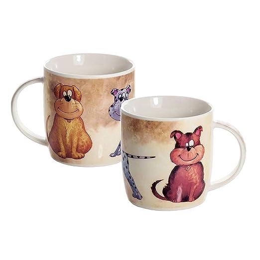 SPOTTED DOG GIFT COMPANY Set de 2 Tazas Desayuno Originales de ...