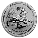 #7: 2018 AU Australia 1 oz Silver Lunar Dog BU 1 OZ Brilliant Uncirculated