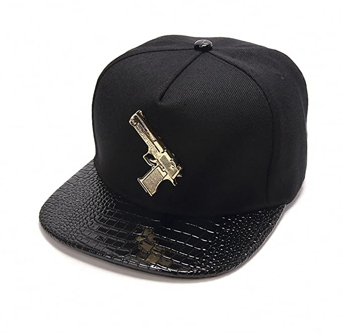 separation shoes 73784 a9a39 Ralink Pistol Adjustable Flat Bill Snapback Men Baseball Hip-hop Cap Hat  for Women s (