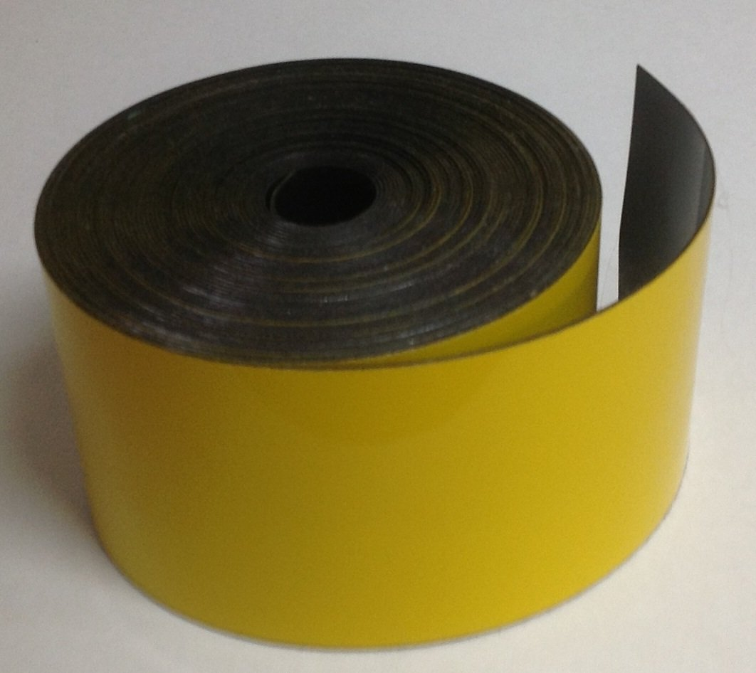 Dry Erase YELLOW Magnetic Strip Roll 1'' x 10' Write on / Wipe off Magnet