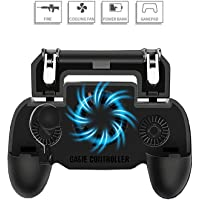 MISCELLANEOUS DEVICE Pubg Mobile Gamepad-Highly Sensitive Dual Trigger Controller Moving Navigation Joystick with 360°Cooling Fan, Built-in Battery for Emergency Charging of Phones