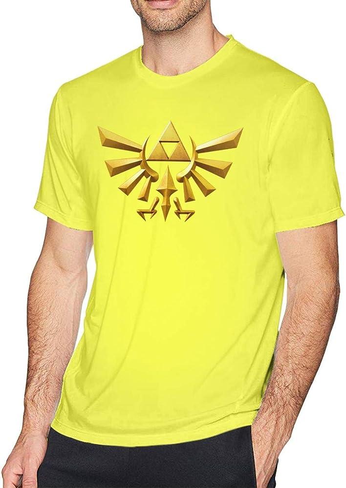 Playera de Verano para Hombre, diseño de la Leyenda de Zelda, Manga Corta, Cuello Redondo, Color Negro Amarillo Amarillo XL: Amazon.es: Ropa y accesorios