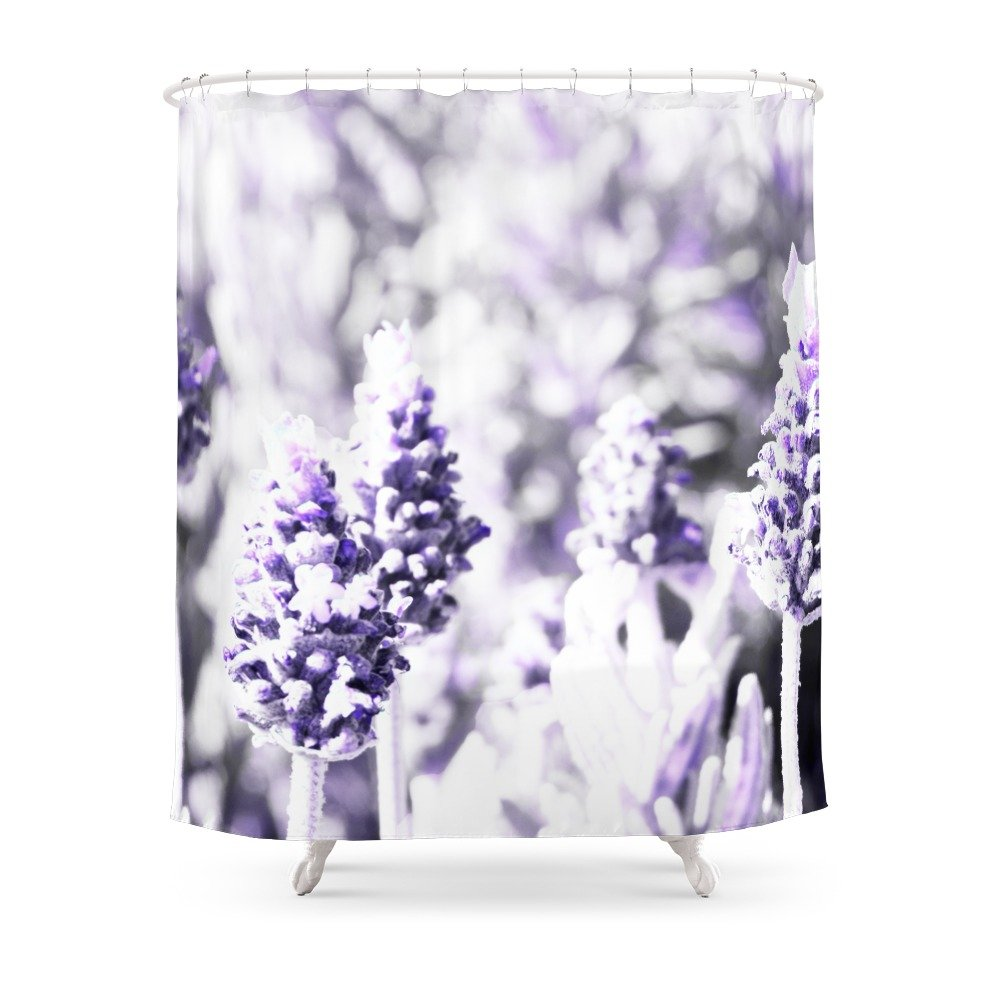 Amazon.com: Society6 Lavender Shower Curtain 71\