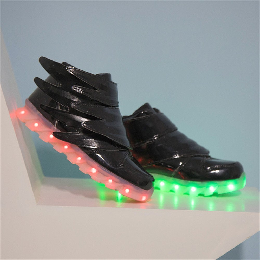 A2kmsmss5a USB Charging Glowing Sneakers Kids Running led Wings Kids Lights up Luminous Shoes Girls Boys Fashion Shoes