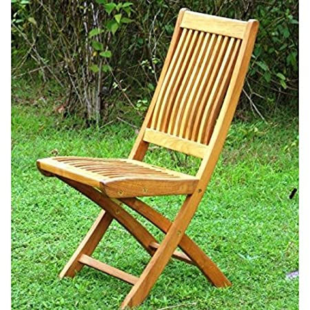 Teak Folding Garden Chair - with contoured back - Kiffa  sc 1 st  Amazon UK & Teak Folding Garden Chair - with contoured back - Kiffa: Amazon.co ...