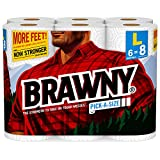 Brawny Paper Towels, Pick-a-Size, 6 Large Rolls, White
