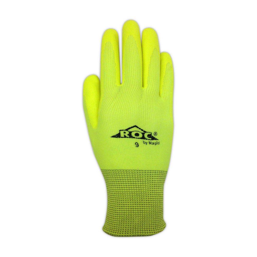 Magid Glove & Safety HV100 Magid ROC HV100 Hi-Viz Knit Gloves with Hi-Viz Micro-Foam Nitrile Palm Coating by Magid Glove & Safety (Image #2)