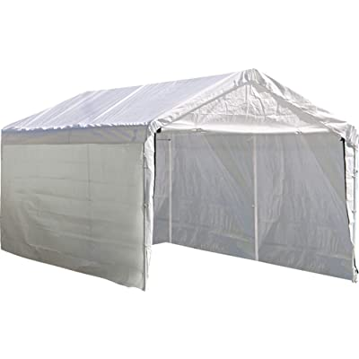 ShelterLogic Super Max 12 ft. x 20 ft. White Canopy Enclosure Kit, Canopy and Frame Sold Separately: Sports & Outdoors