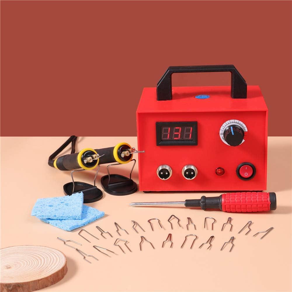 S SMAUTOP Kit de Máquina de Pluma de Pirografía Dos Plumas con 23 Pcs Tips 220V 100W Máquina de Pirograbado Temperatura Ajustable Kit de Artesanía de Madera de Pirograbado para Madera/Cuero/Calabaza