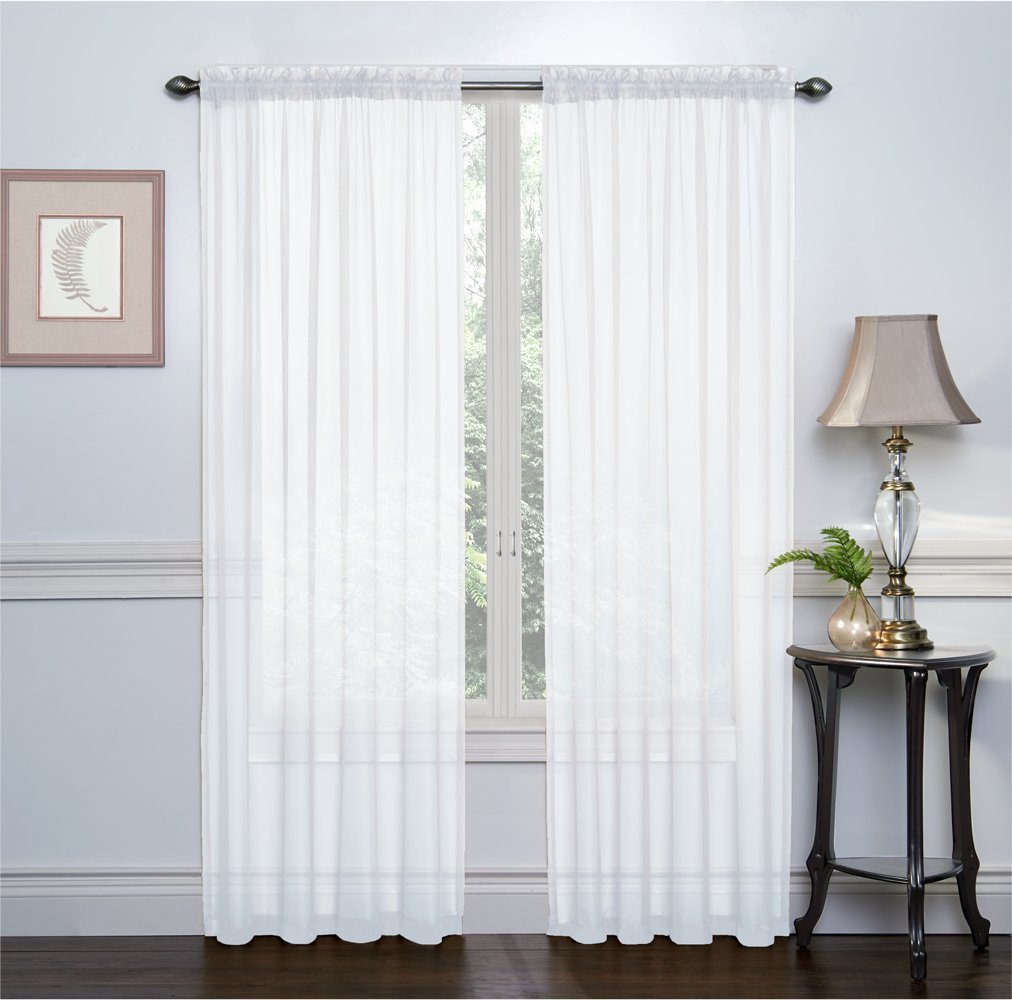 Threshold linen grommet sheer curtain panel product details page - Me White 54 Inch X 84 Inch Window Curtain Sheer Panels Set Of 2