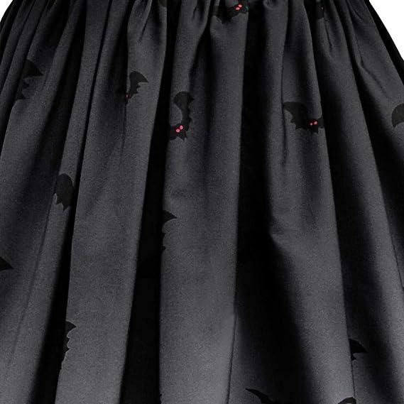 ... De Manga Corta De Halloween Retro MurciéLago De Calabaza De ImpresióN Vintage Vestido De Una LíNea De Calabaza Swing Dress: Amazon.es: Ropa y accesorios